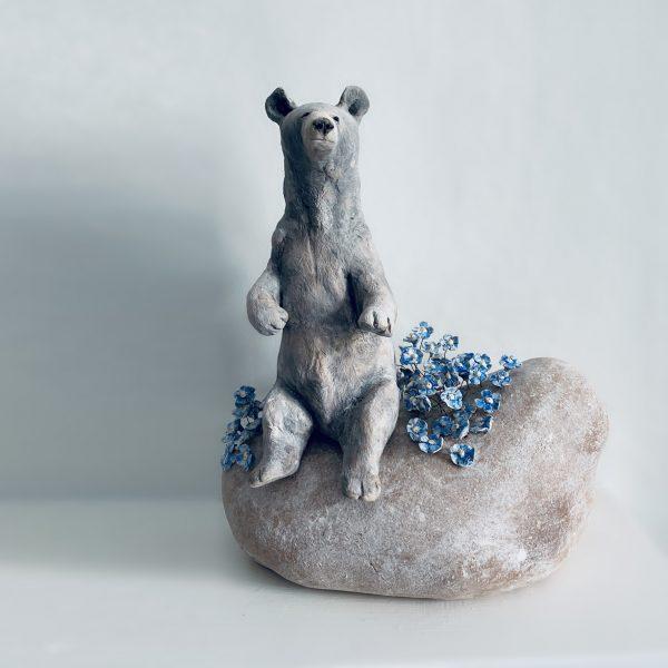 Bear ceramic sculpture