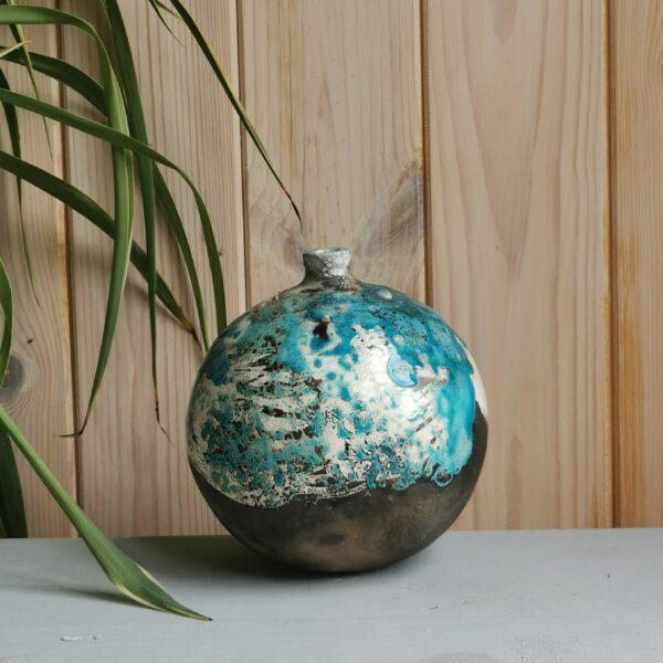 Turquoise moon jar
